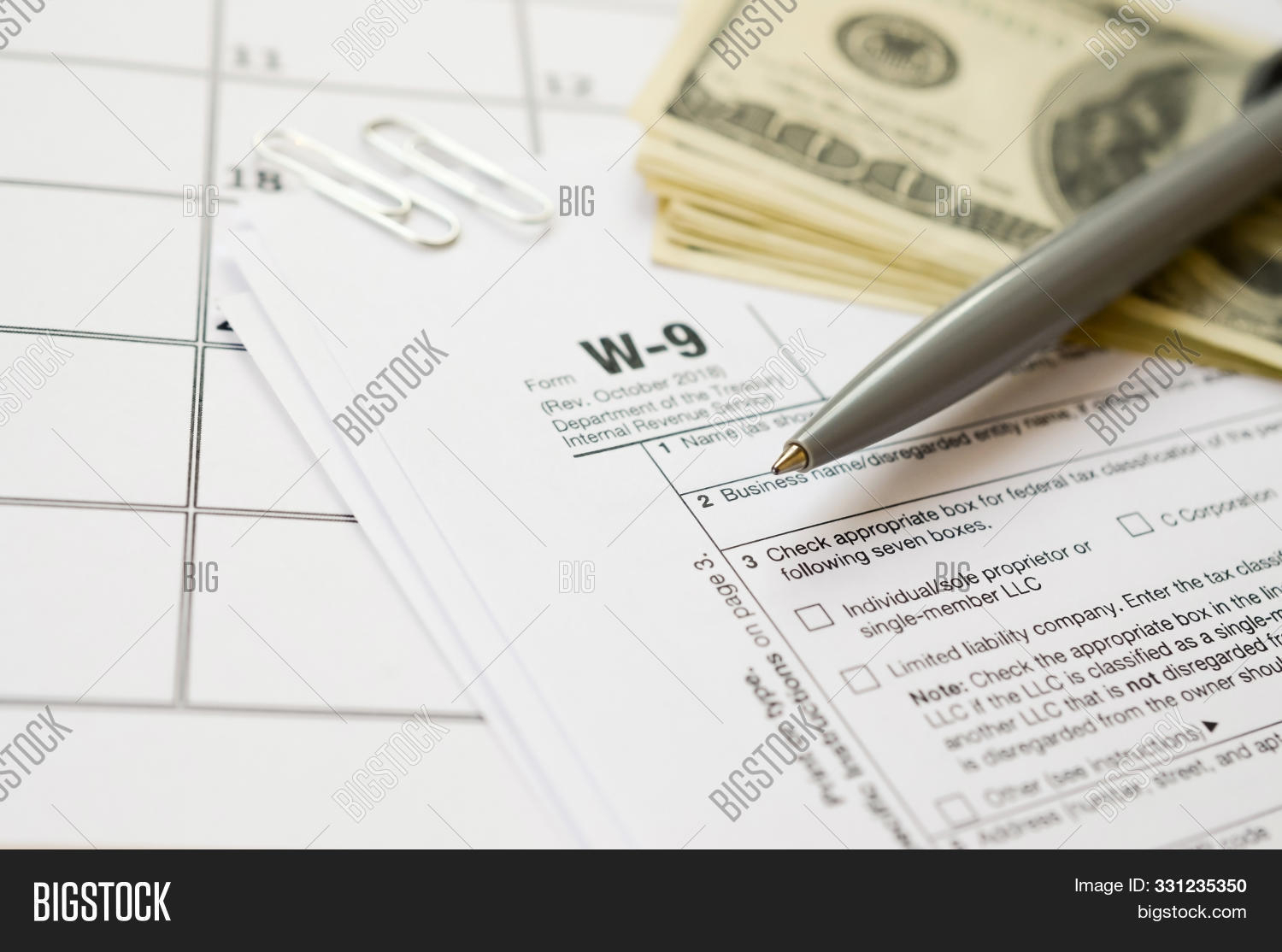 Irs Form W-9 Request Image & Photo (Free Trial) | Bigstock with regard to Free W 9 Blank Form
