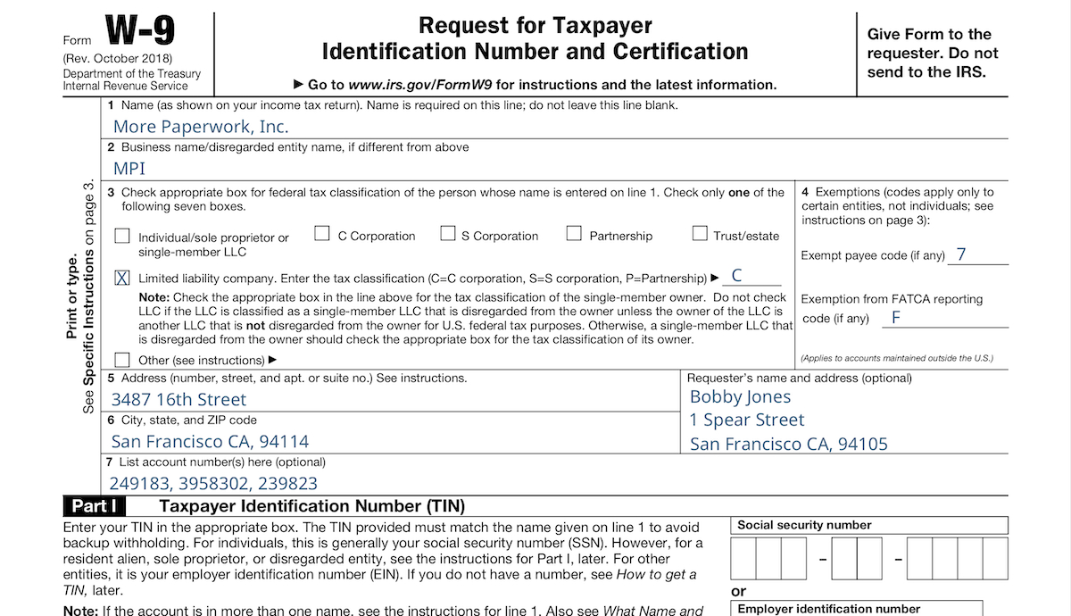 Irs W-9 · Anvil with regard to Irs W 9 Form Download