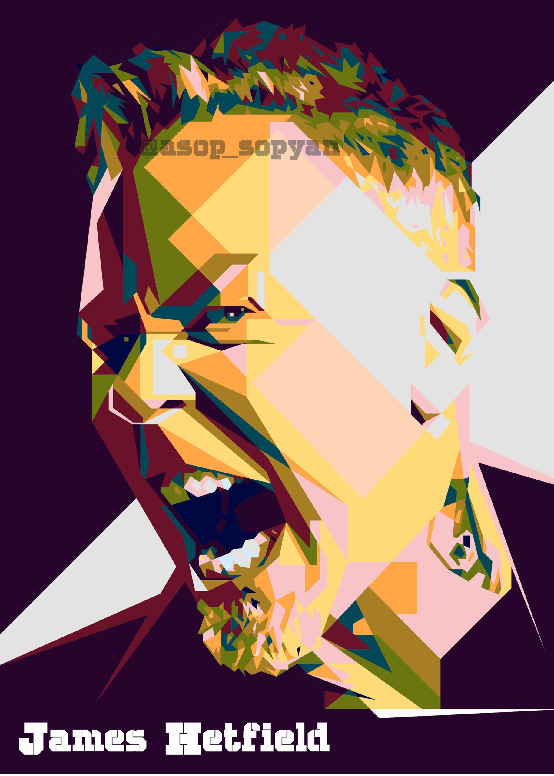 James Hetfield' Poster Printkang Sopyan | Displate In pertaining to Wpa Wpart Co