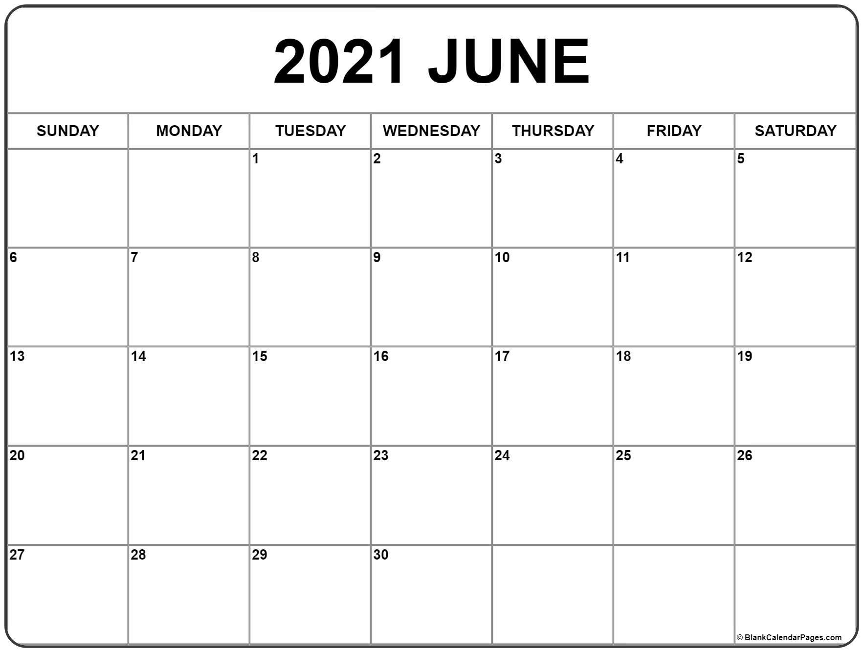 June 2021 Calendar | Free Printable Monthly Calendars with Printable Pocket Size Calendar 2021