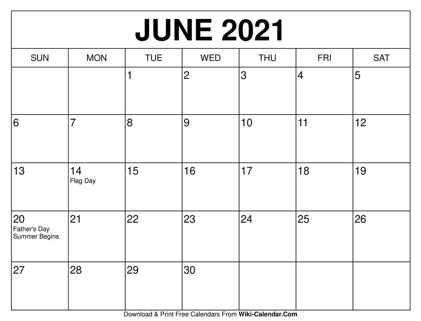 June 2021 Calendar In 2020 | Calendar Printables, Print with regard to 2021 Fill-In Calendar