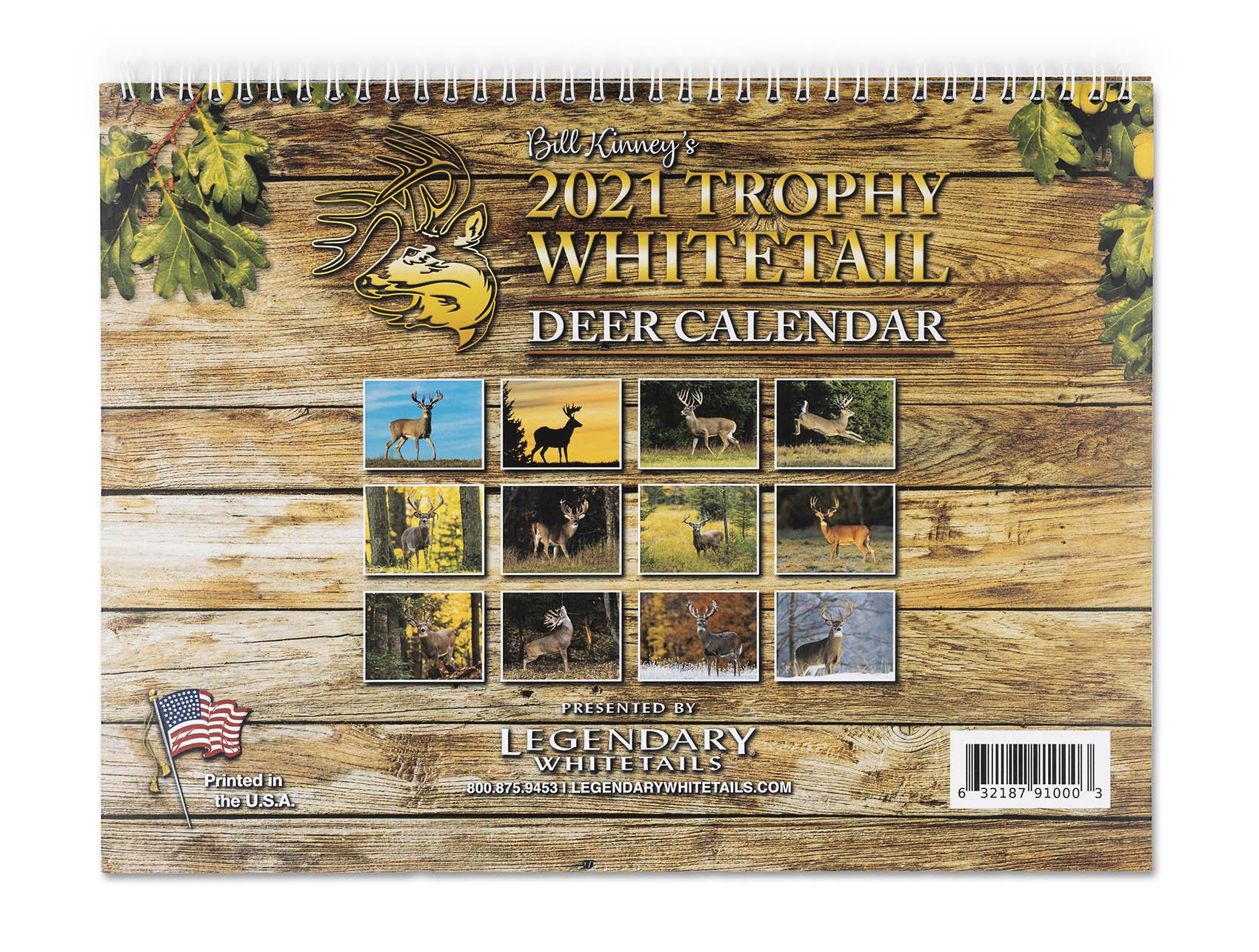 Legendary Whitetails 2021 Calendar in Deer Activity Calendar 2021