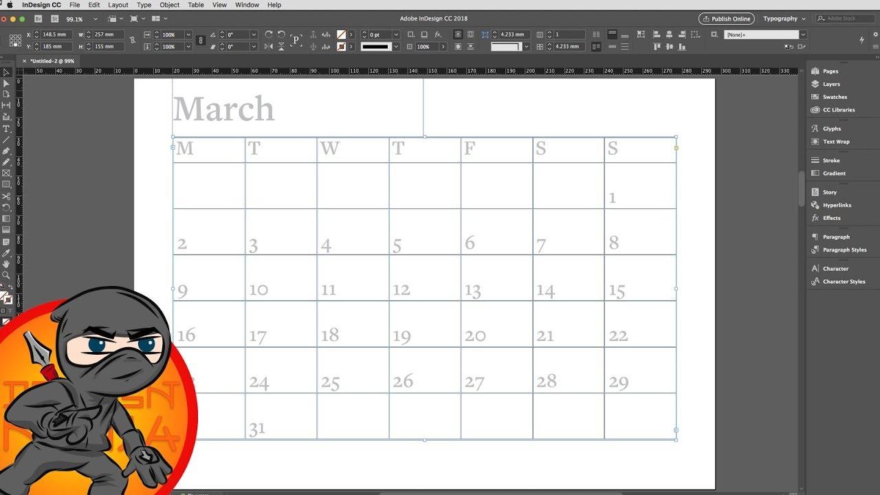 Make A Calendar Layout In Indesign regarding Calendar Wizard Indesign 2021