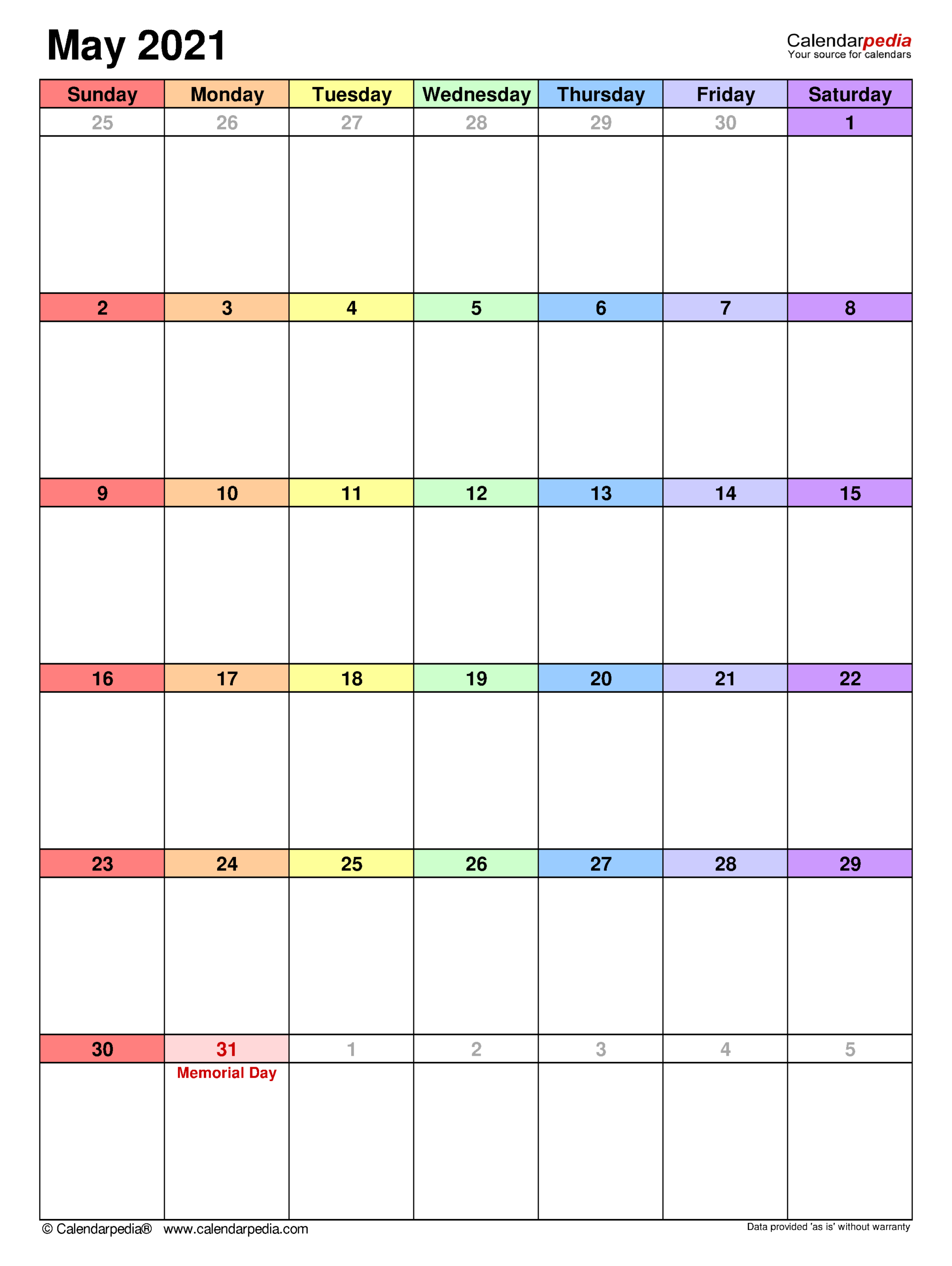 May 2021 Calendar | Templates For Word, Excel And Pdf regarding Shift Calendar 2021