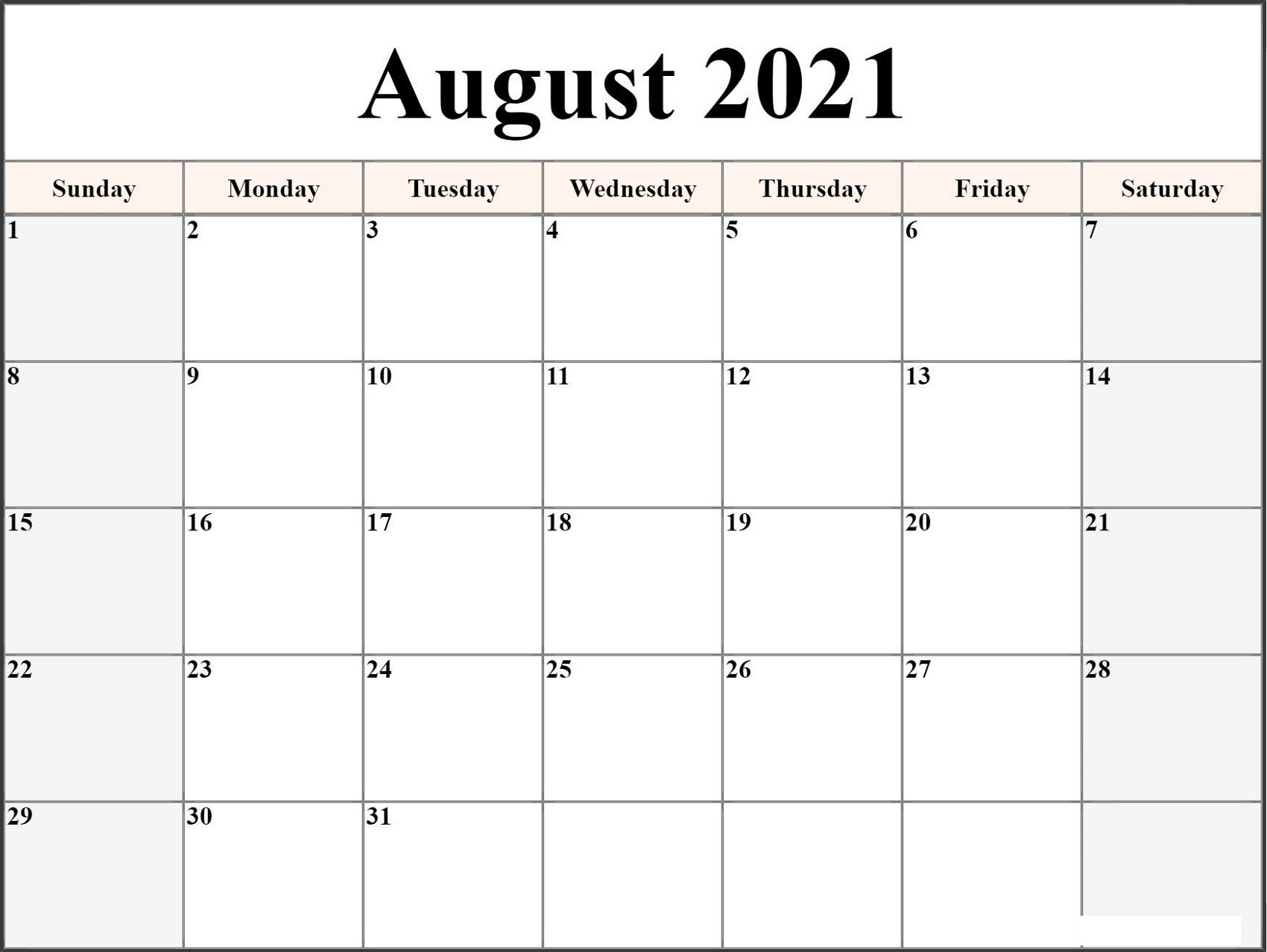 Microsoft Word Calendar Template 2021 Monthly | Free within Monthly Fill In Printable Calendar 2021