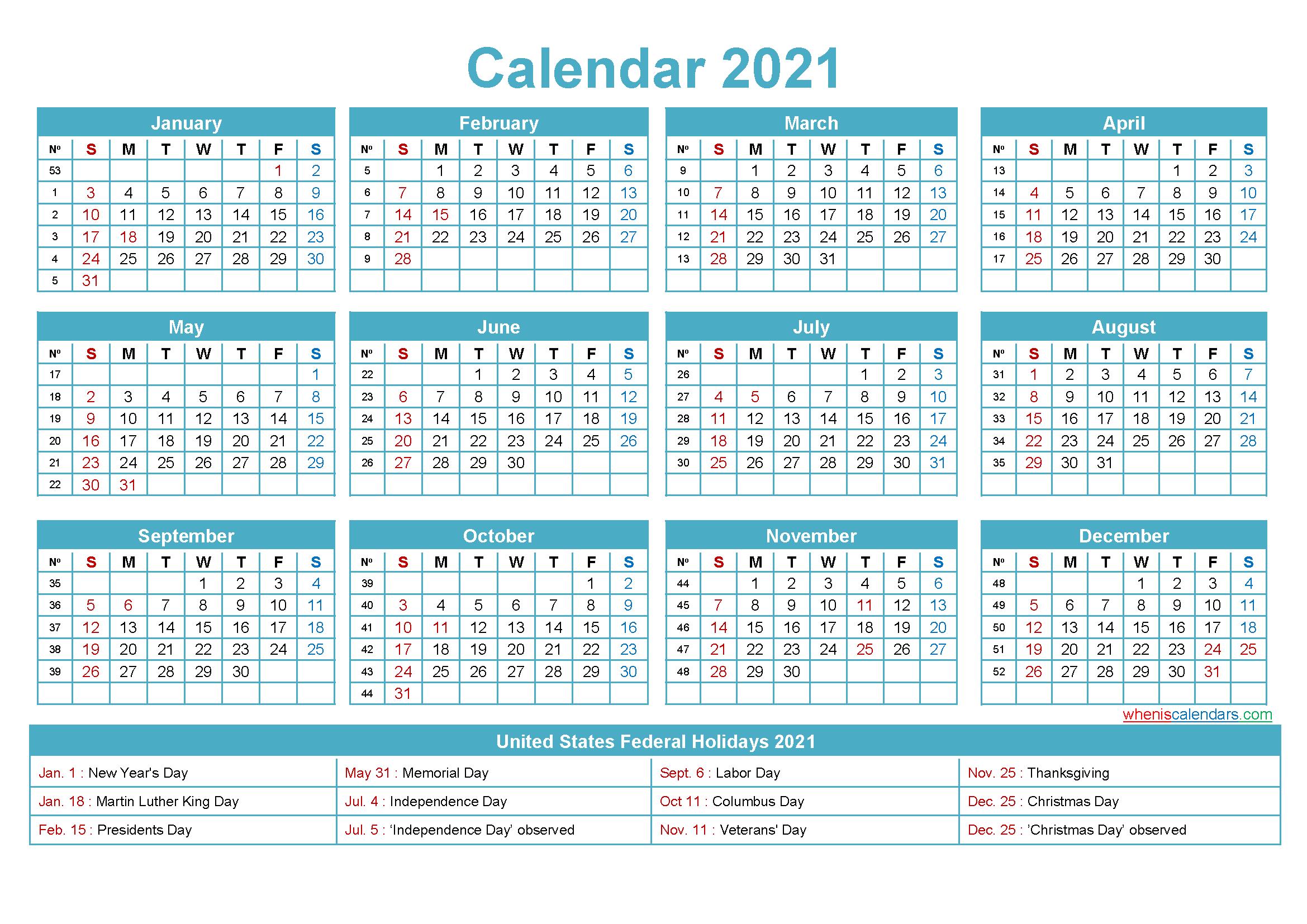 Mini Desk Calendar 2021 Free Printable throughout Weekly Planner For 2021- 52 Weeks