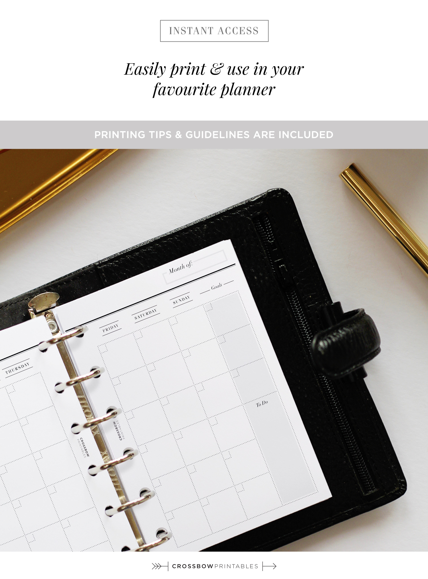 Month On Two Pages Productivity Edition: Printable Pocket Size Calendar for Free Printable Pocket Size Calendars