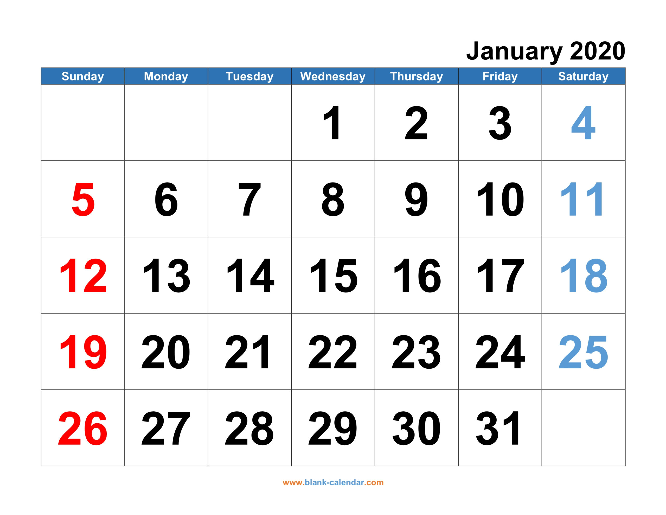 Monthly Calendar 2020 | Free Download, Editable And Printable within Free Monthly Calendar Printable And Editable