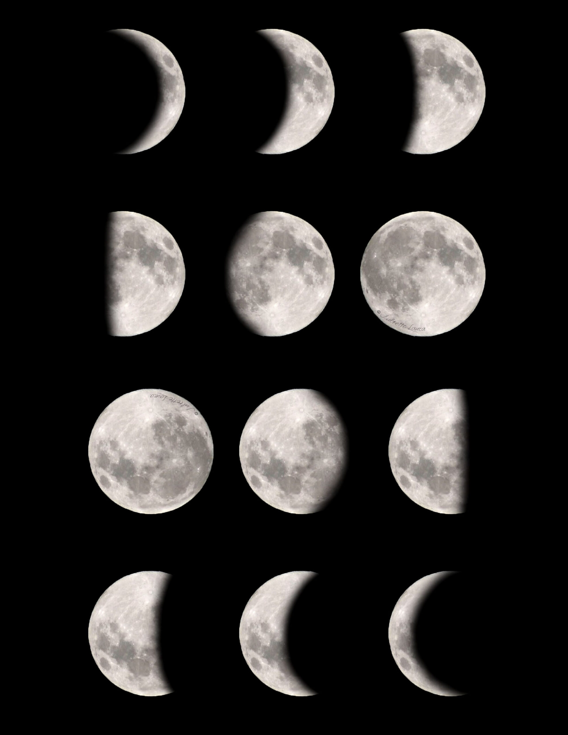 Moon Phases Free, Downloadable & Printable! | Conjunto De pertaining to Phases Moon Printable
