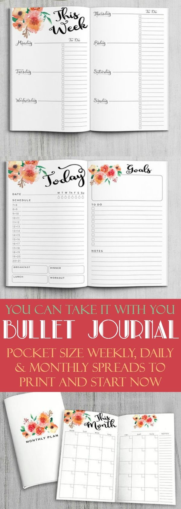 No Excuses! These Pocket Size Bullet Journal Daily, Weekly intended for Pocket Planner Monthly Only: Weekly