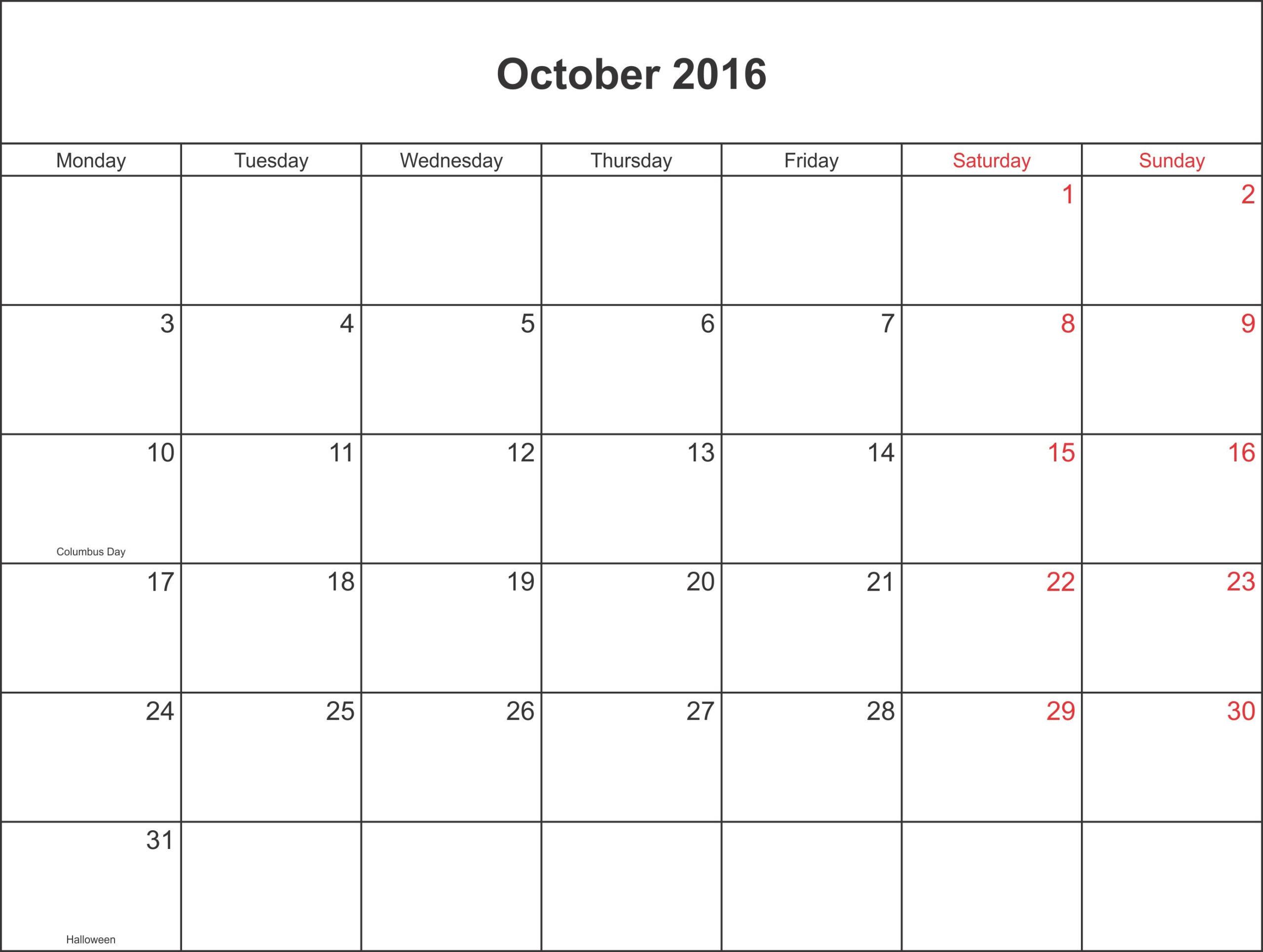 October 2016 Calendar Waterproof | August Calendar with Waterproof Calendar 2021