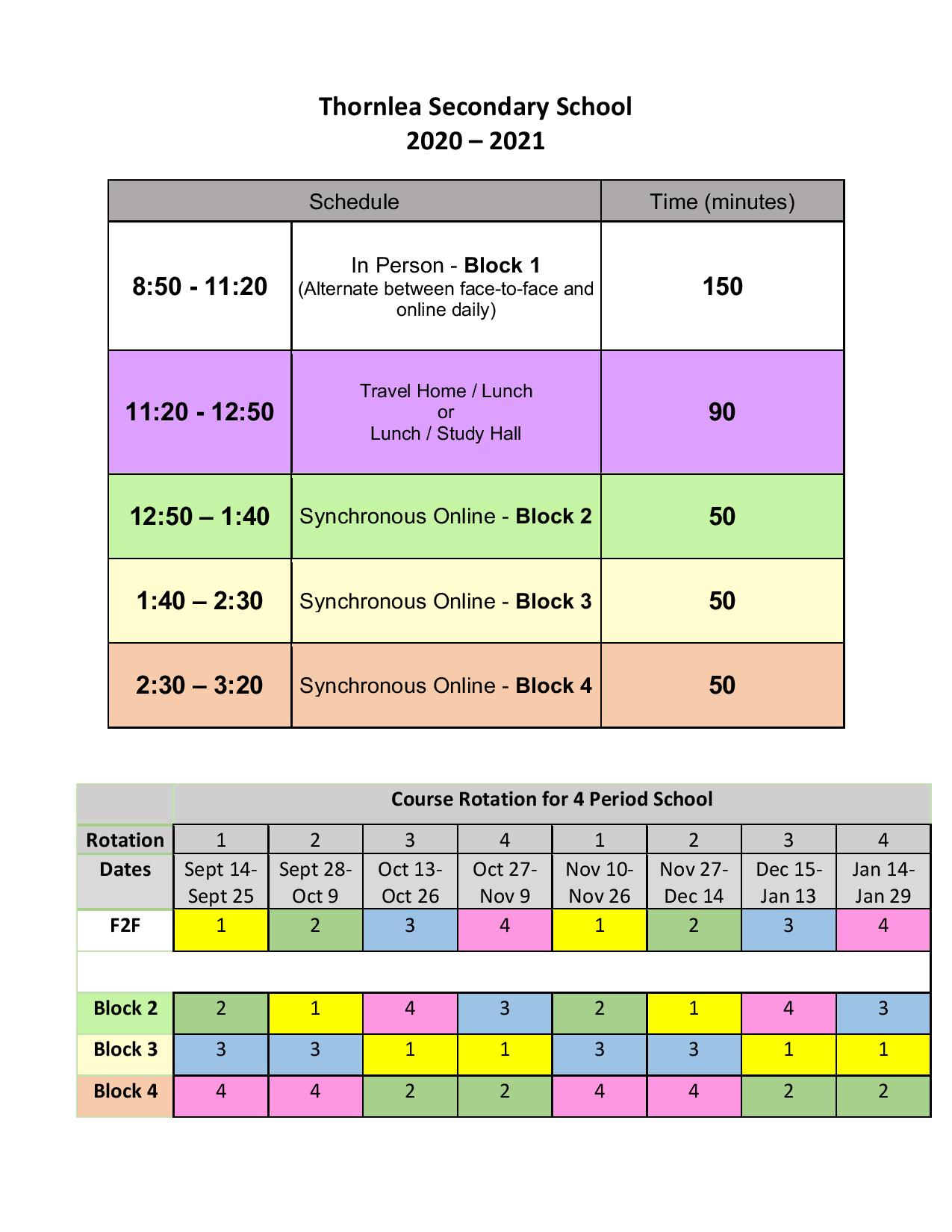 Pages - School Schedule, Rotation Schedule, And Cohort Calendar throughout Yrdsb School Calender