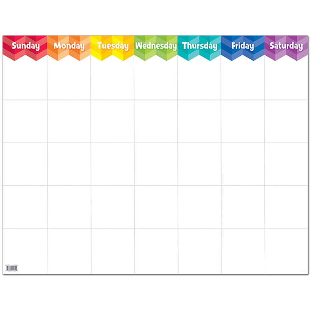 Painted Palette Large Calendar Chart regarding Calendars With Large Squares