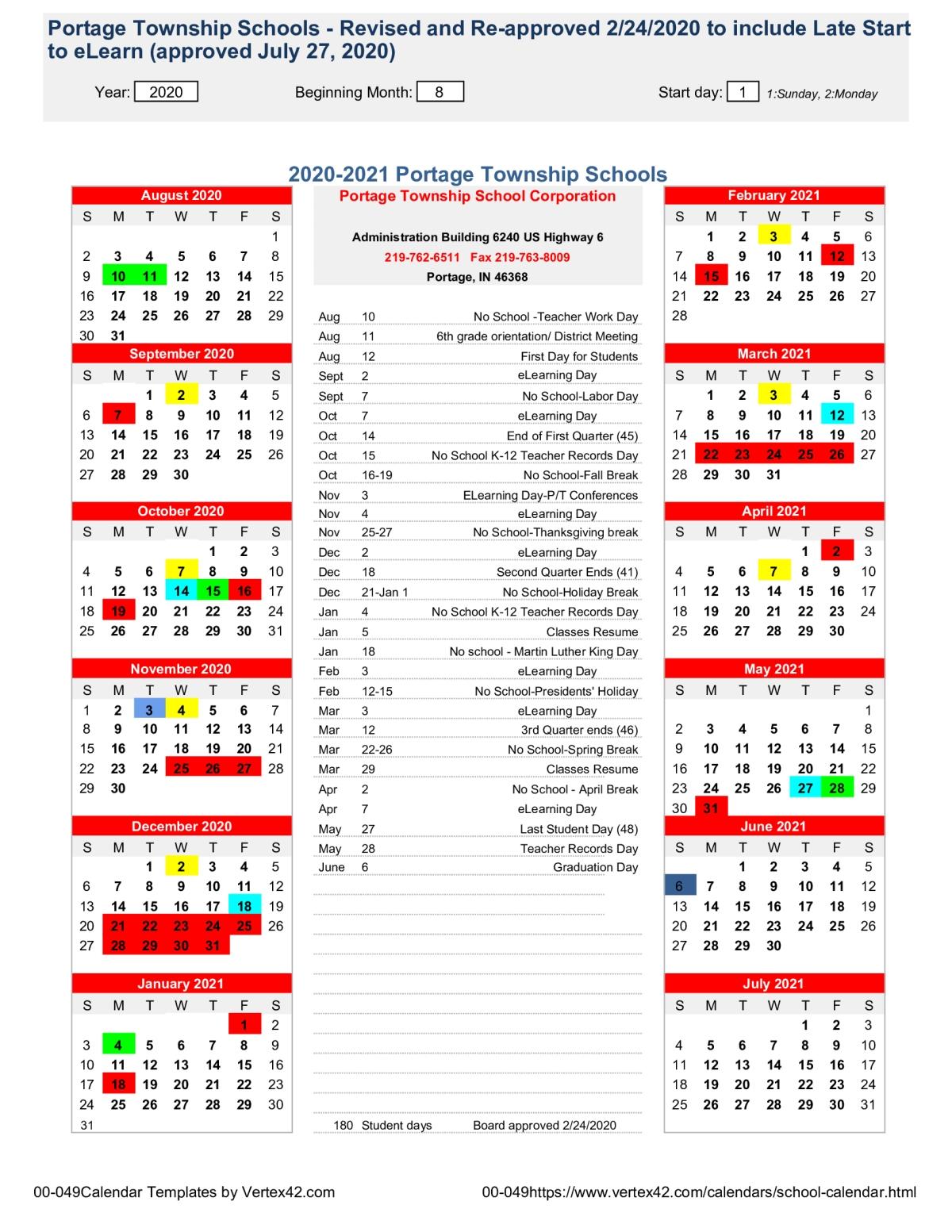 Peachjar Flyers for Vertex Academic Calendar