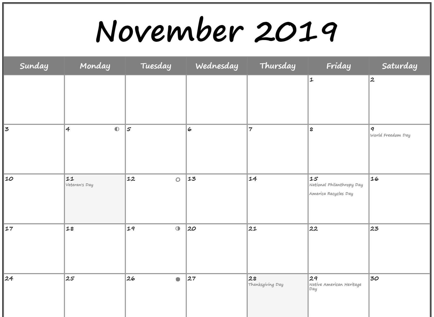 Pin On Free Printable Calendar Template With Holidays pertaining to Calendar 2021 November Fill In