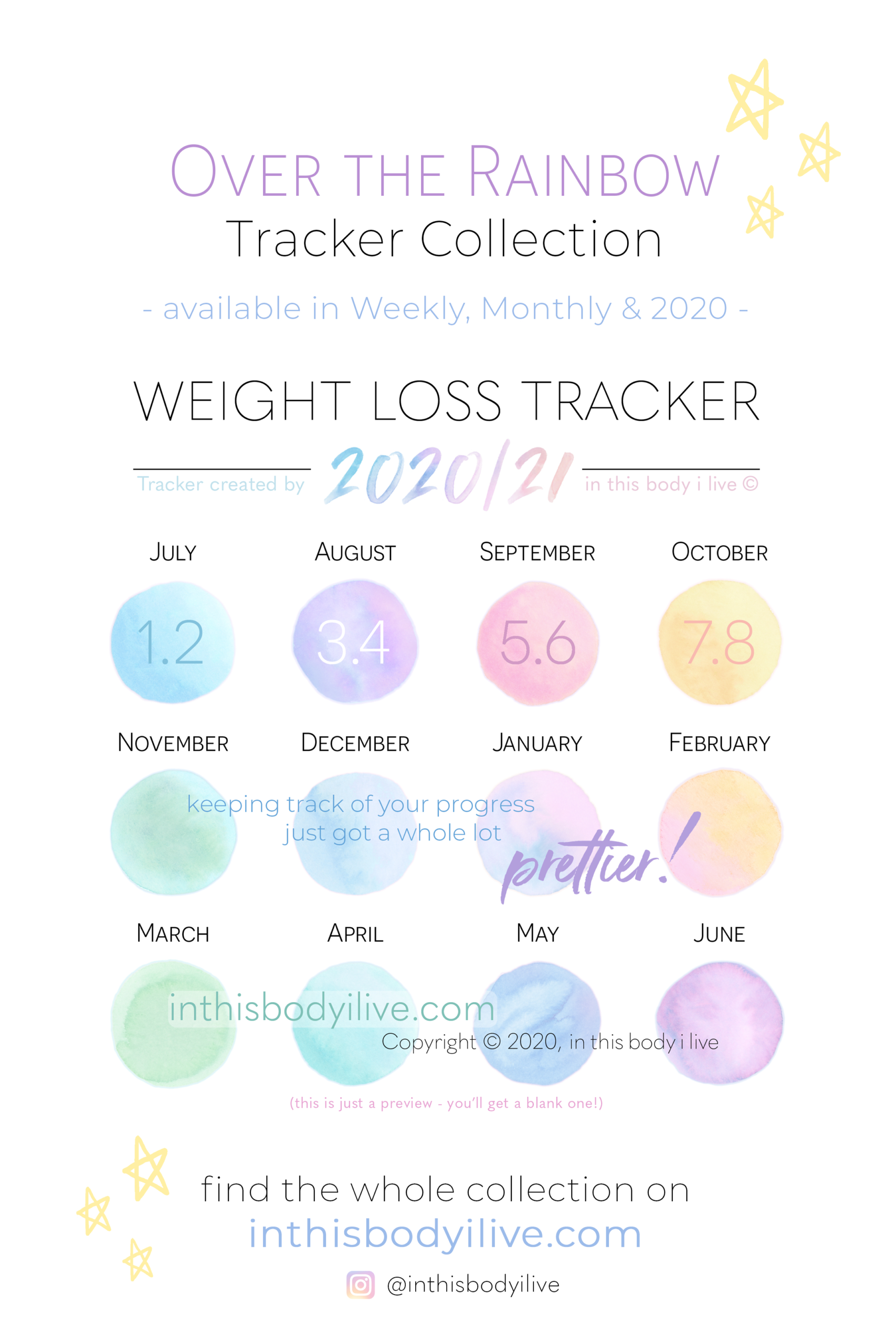 Pin On Weight Loss Trackers, Calendars + Templates intended for 2021 2021 2 Year Monthly Planner Live