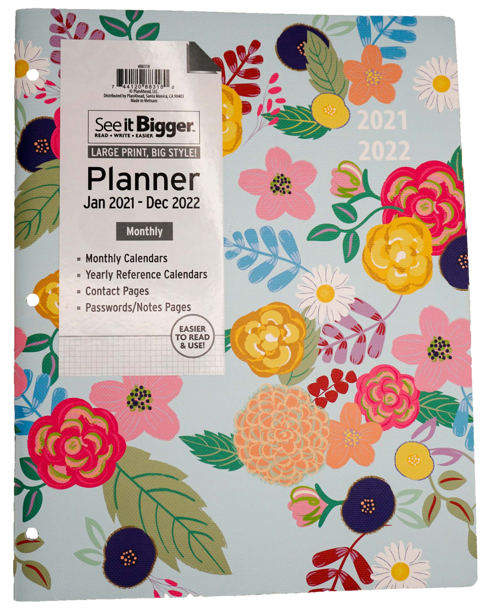 """Planahead See It Bigger, Planner, Jan 2021-Dec 2022, Monthly, 8.5"""" X 11"""" -  Walmart intended for Hunting Planner 2021 Monthly"""