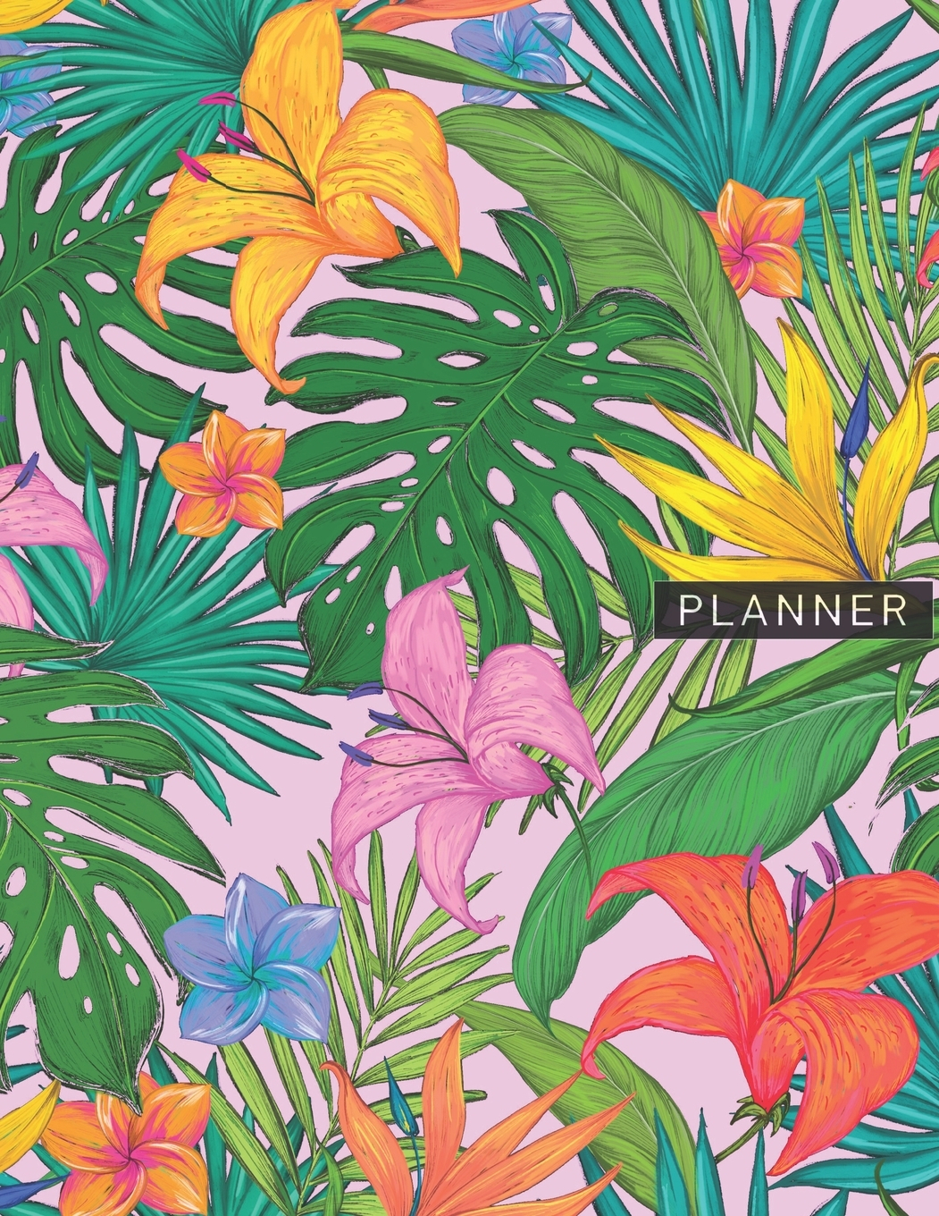 Planner : Tropical Green Leaves & Flowers 2 Year Monthly Planner With Note  Pages (24 Months) - Jan 2020 - Dec 2021 - Month Planning - Appointment within Tropical Floral: Calendar 2021 Monthly