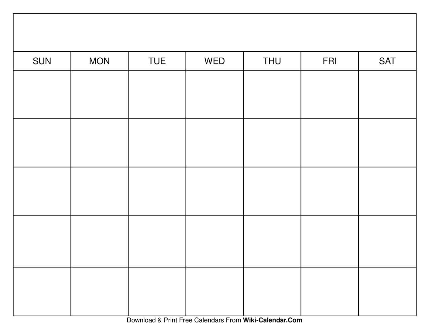 Printable Blank Calendar Templates within Fill In Calendar Printable