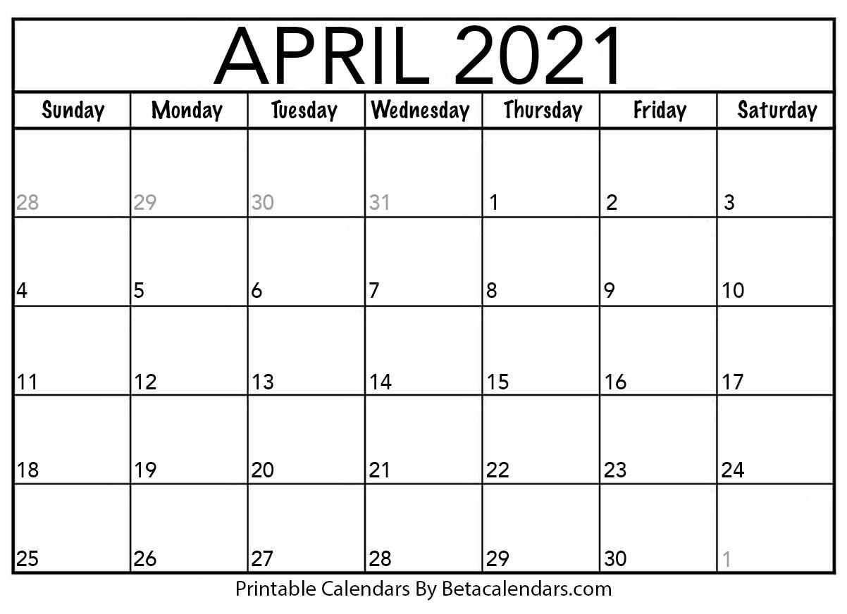 Printable Calendar 2021 | Download & Print Free Blank Calendars within Printfree Calendar 2021 With Date Boxes
