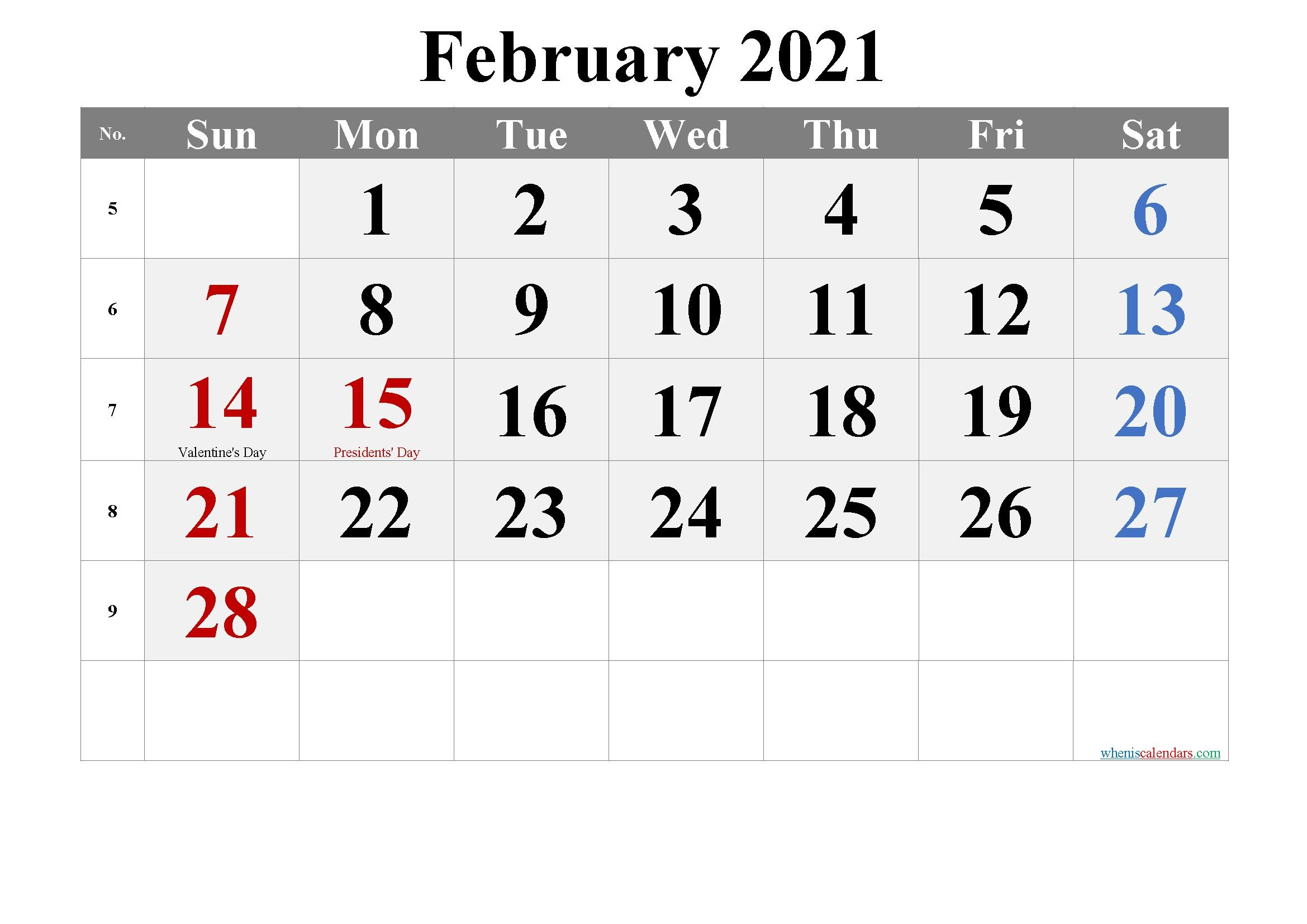 Printable Calendar January February 2021 In 2020 | Calendar for Free Print 2021 Calendars Without Downloading