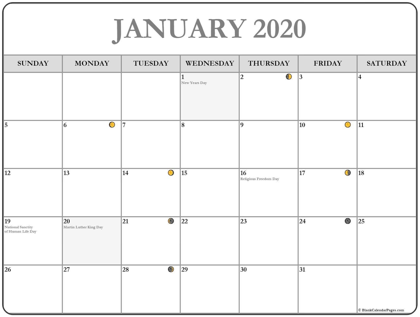 Printable January 2020 Moon Calendar #January #January2020 pertaining to Printable Yearly Full Moon Calendar For 2021