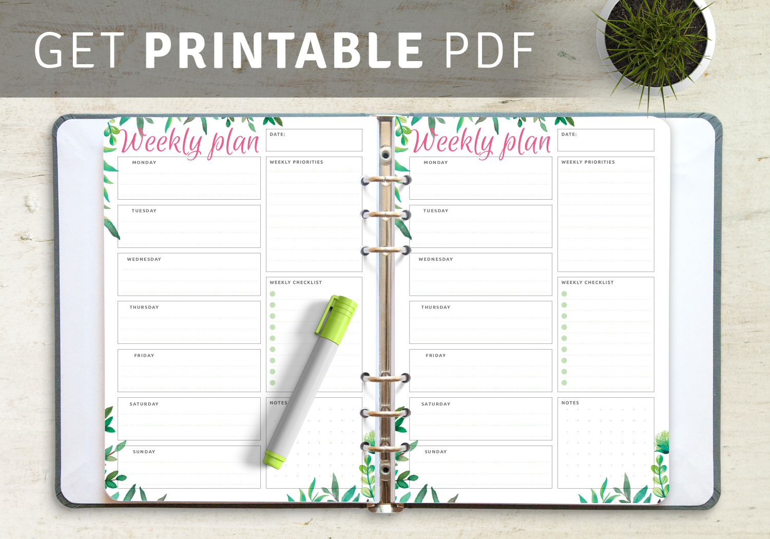 Printable Weekly Planner Templates - Download Pdf throughout Lesson Plan Calendar Template 2021