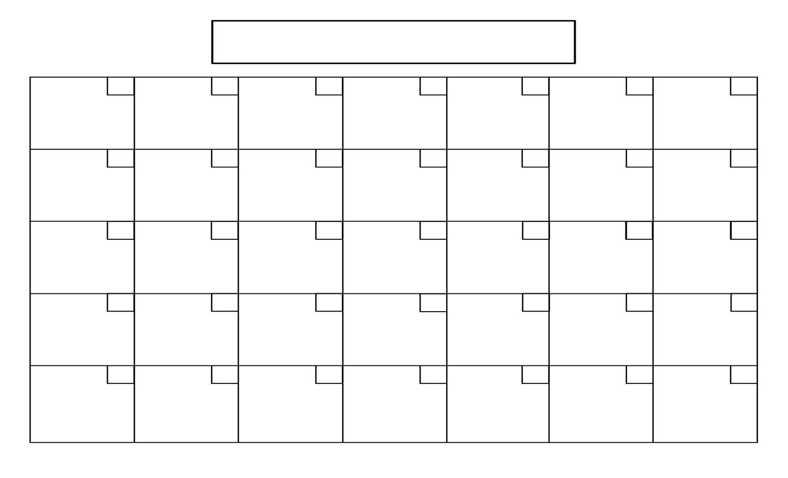 Printable+Full+Page+Blank+Calendar+Template | Blank Calendar for Free Fill In Printable Calendars