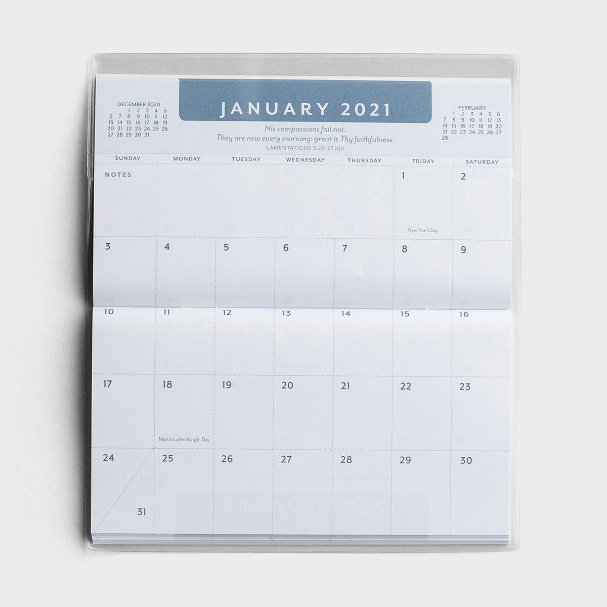 Psalms - 2021-2022 - 28 Month Planner inside Pocket Calendars 2021