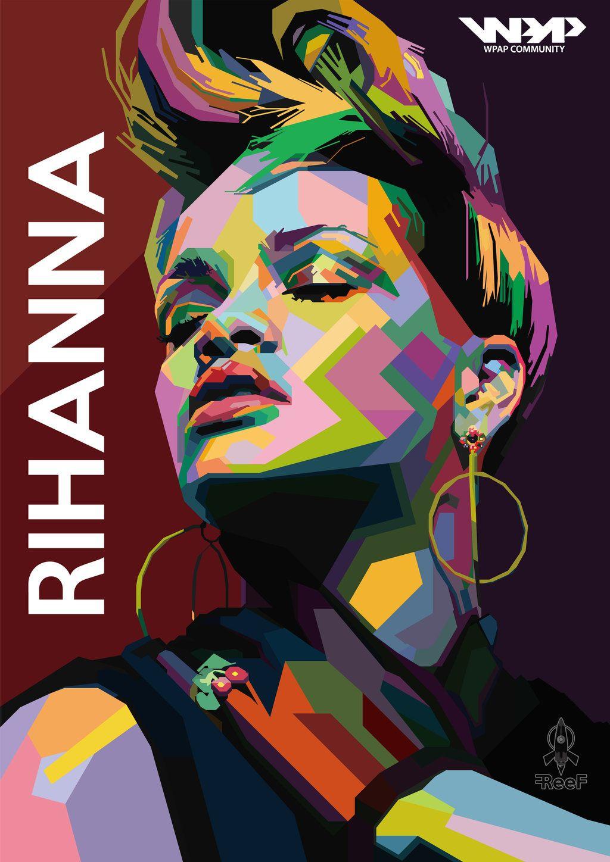Rihanna_In_Wedha_S_Pop_Art_Portrait__Colorversion__ inside Wpa Wpart Co