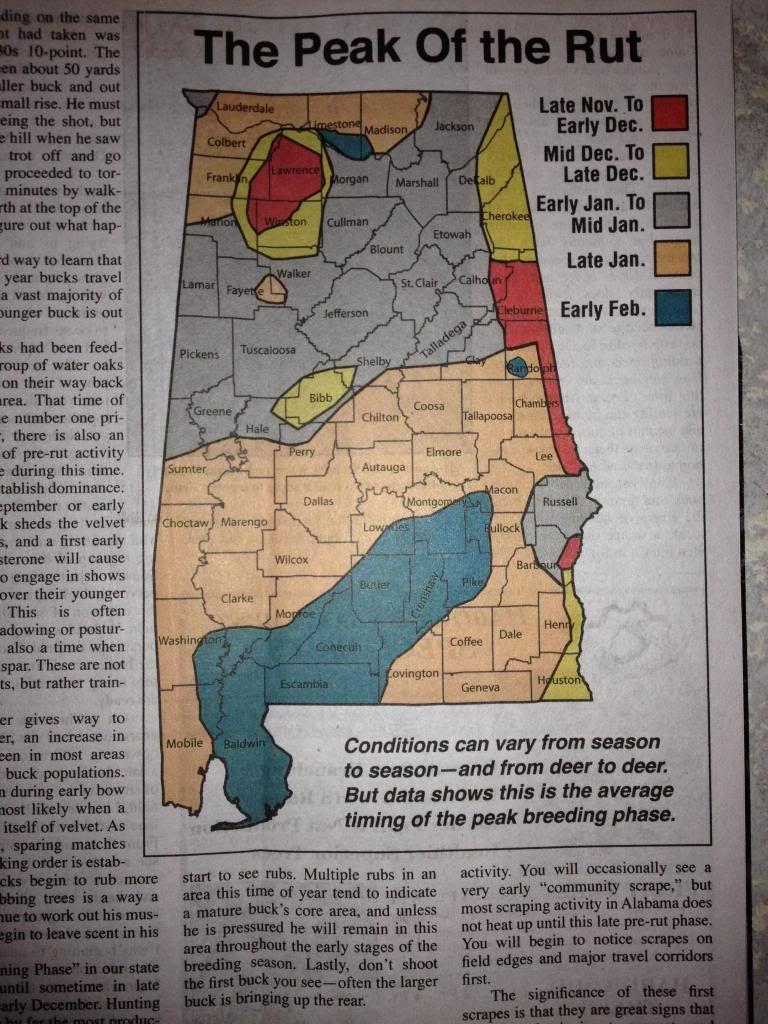 Rut Map In Aon   Deer Rut, Alabama Deer Hunting, Deer intended for Rut Predictions 2021
