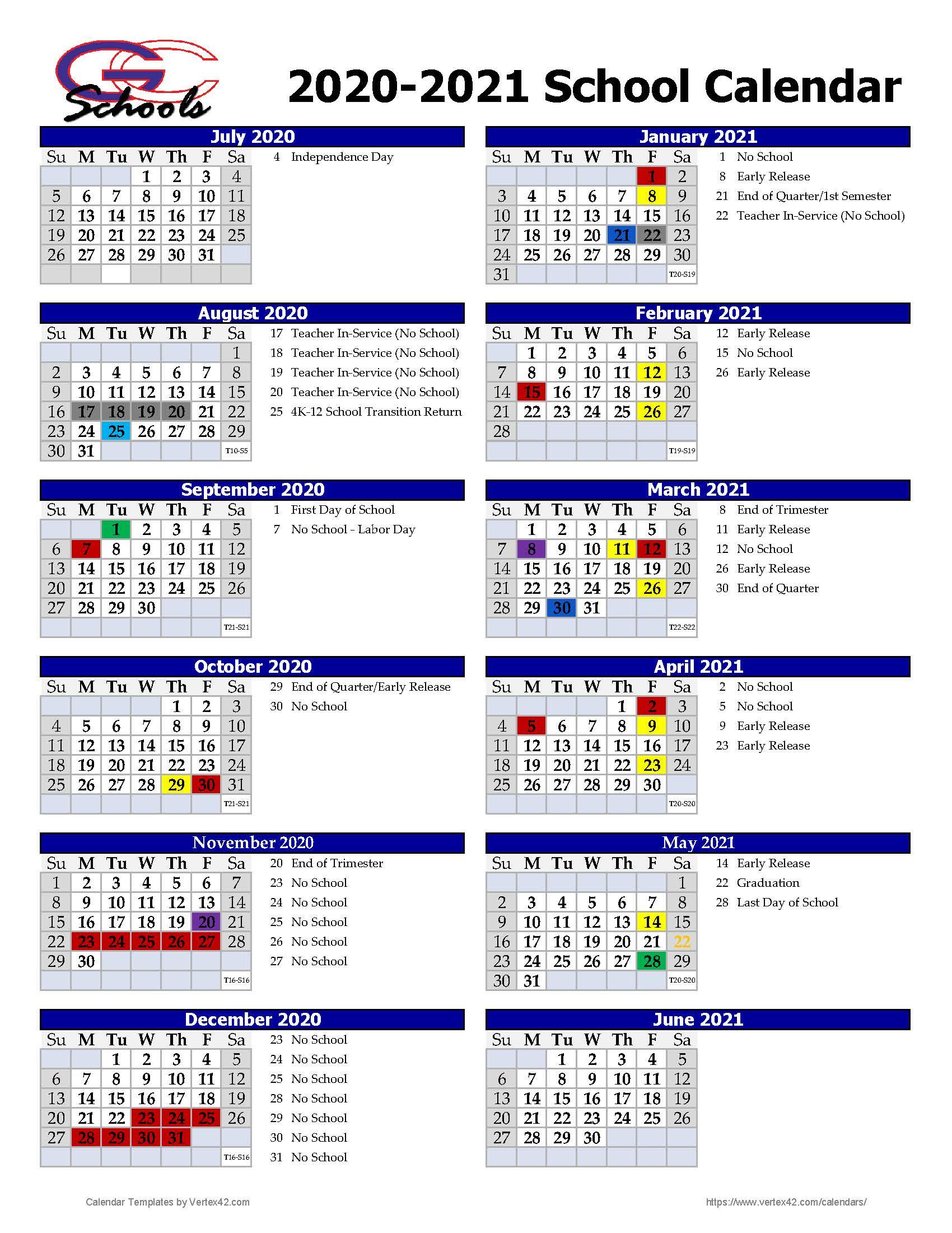 School District Of Glenwood City - District Calendar with Vertex Academic Calendar