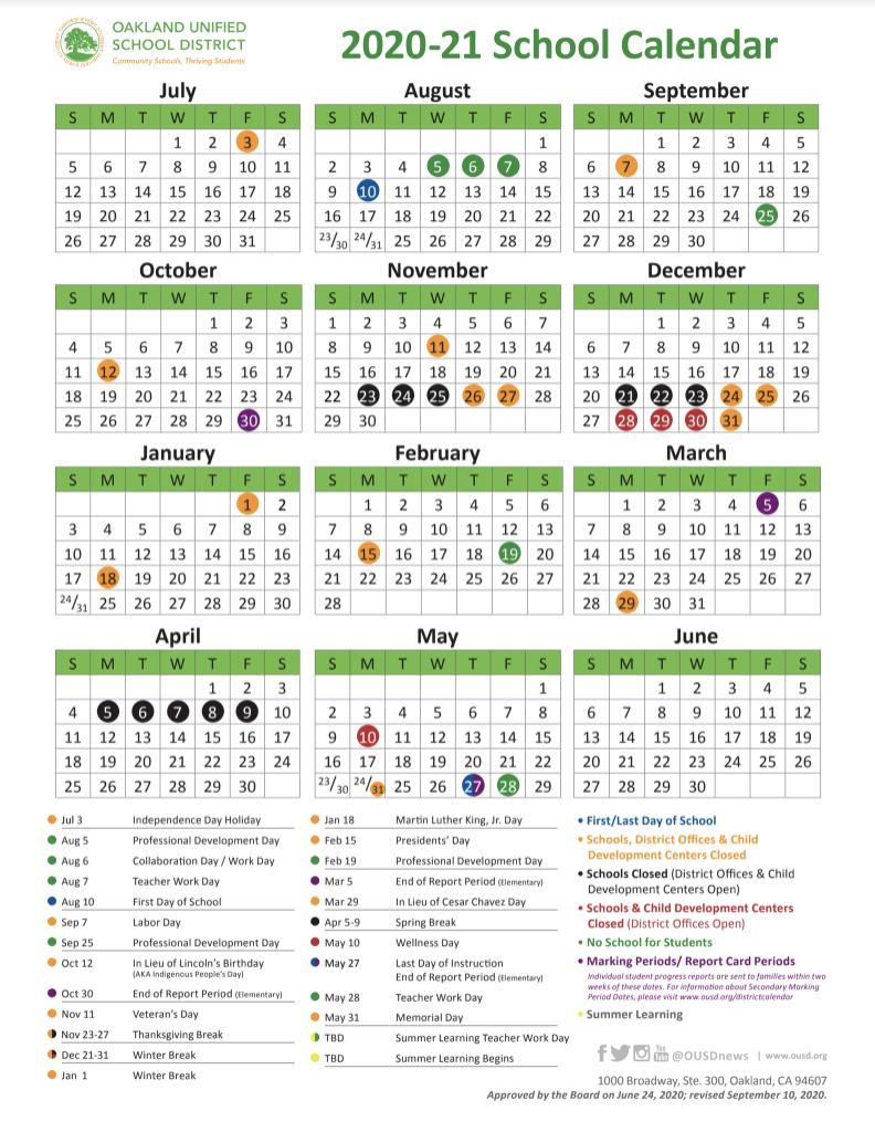 School Year Calendar / 2020-21 School Year Calendar with regard to Yrdsb School Calender