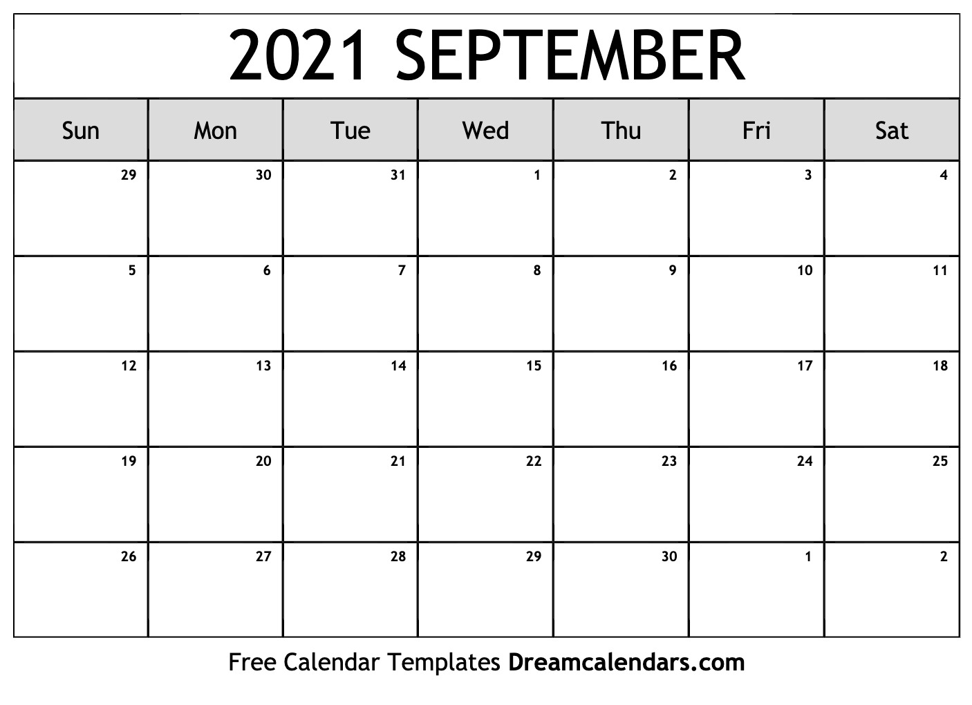 September 2021 Calendar | Free Blank Printable Templates regarding September 2021 Calendar Printable