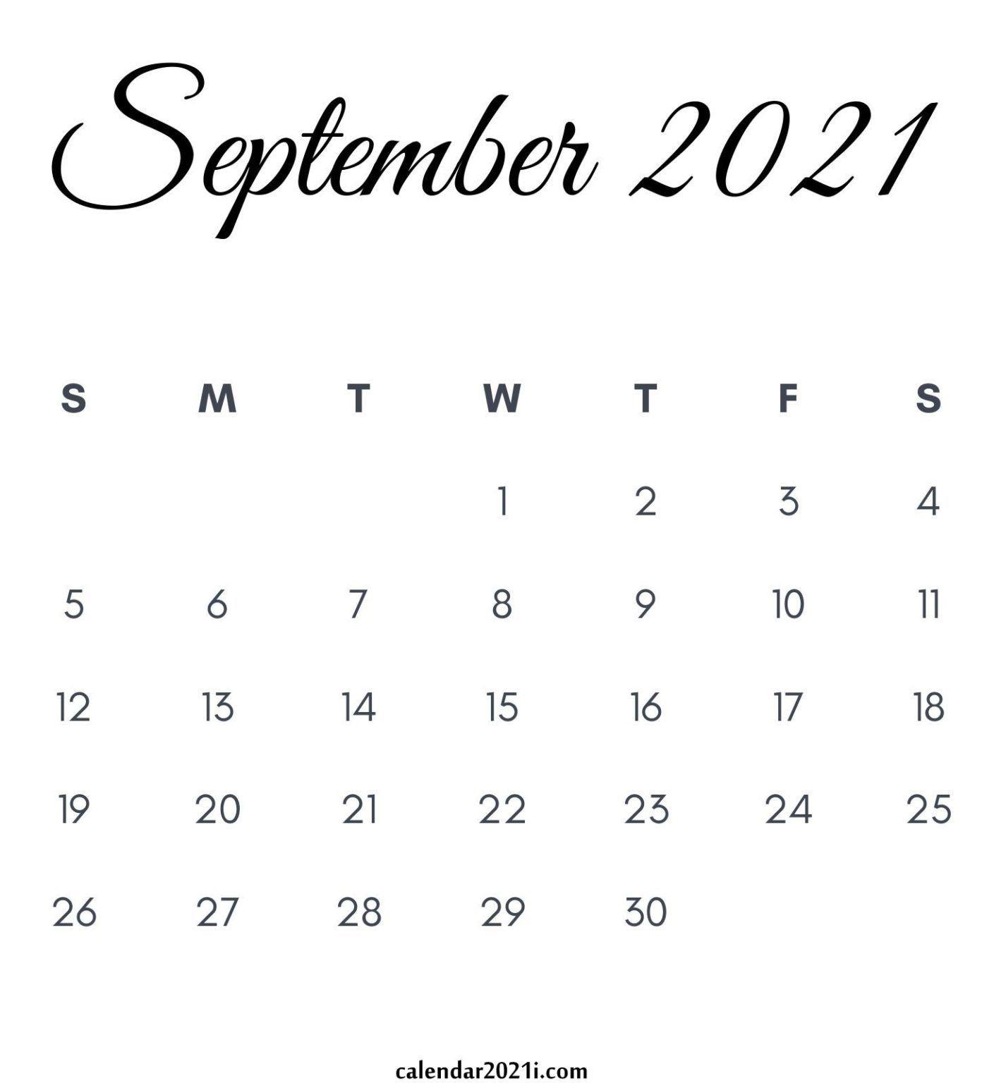 September 2021 Calendar Printable In 2020 | Printable throughout September 2021 Calendar Printable