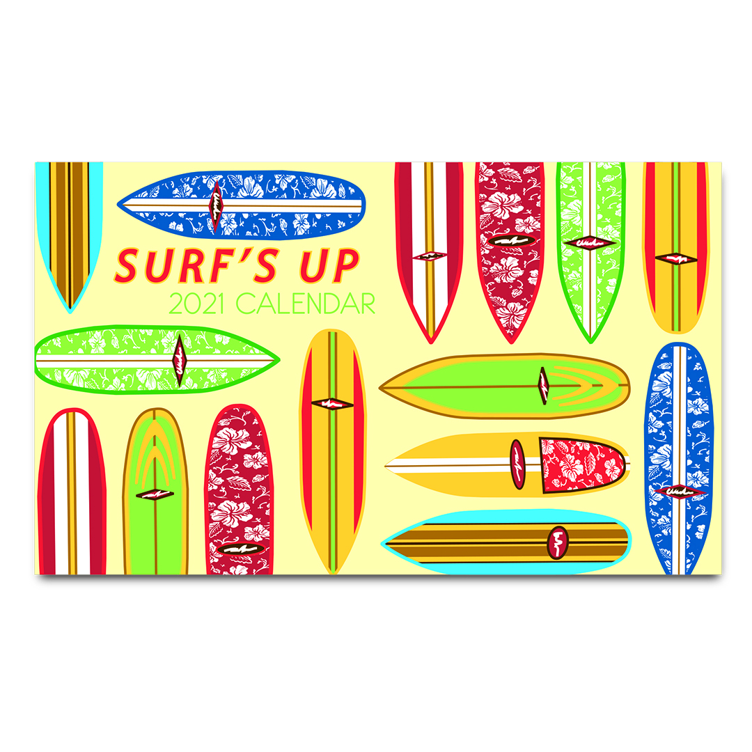 Surf'S Up 2021 Pocket Calendar intended for Pocket Calendars 2021