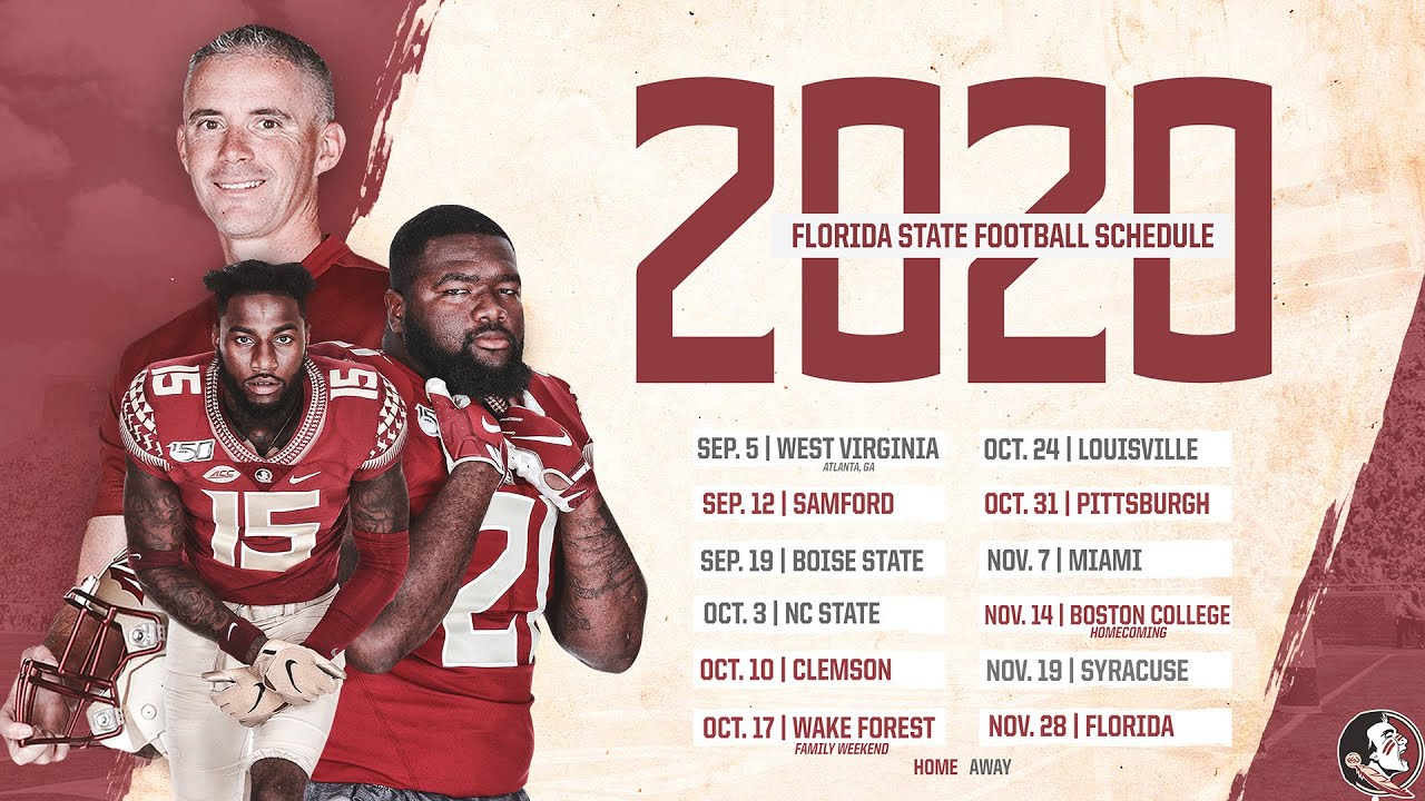 Takeaways: 2020 Fsu Football Schedule in Printable 2021 Nfl Schedule
