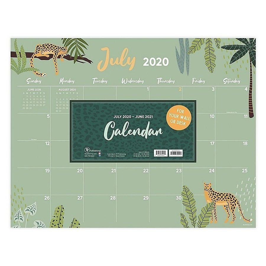 Tf Publishing Monthly Theme July 2020 To June 2021 Desk Pad with Hunting Season: Calendar 2021 Monthly