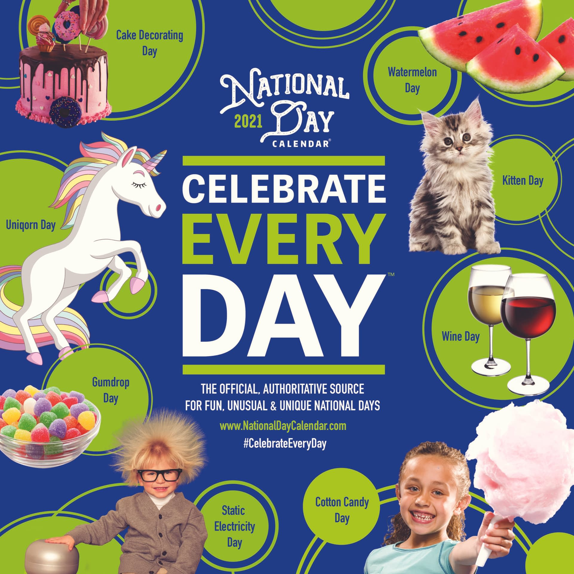 The 2021 Official Celebrate Every Day Wall Calendars Have in Printable National Day Calendar 2021