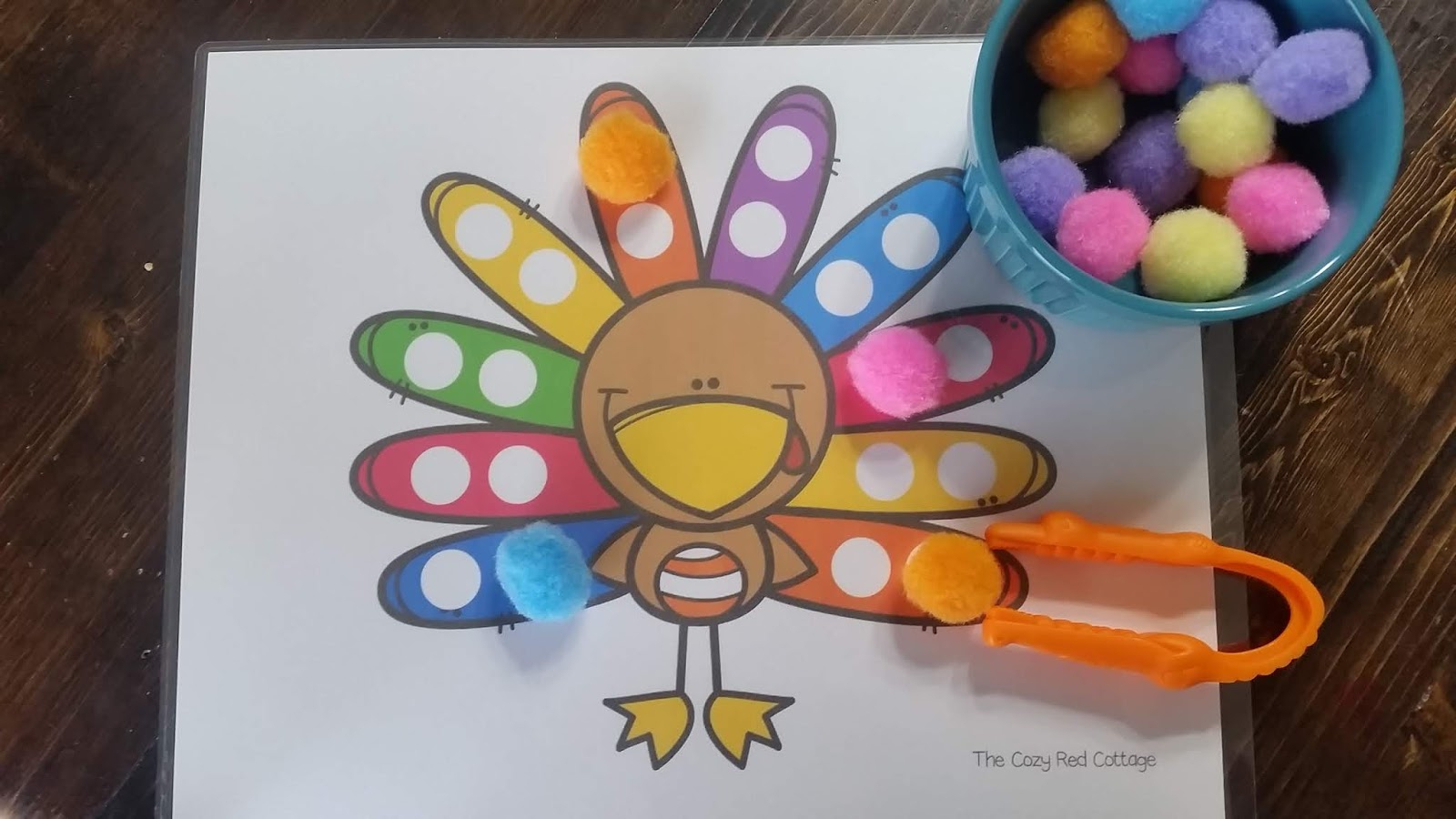 The Cozy Red Cottage: Color Sort Turkey (Free Printable) for The Cozy Red Cottage