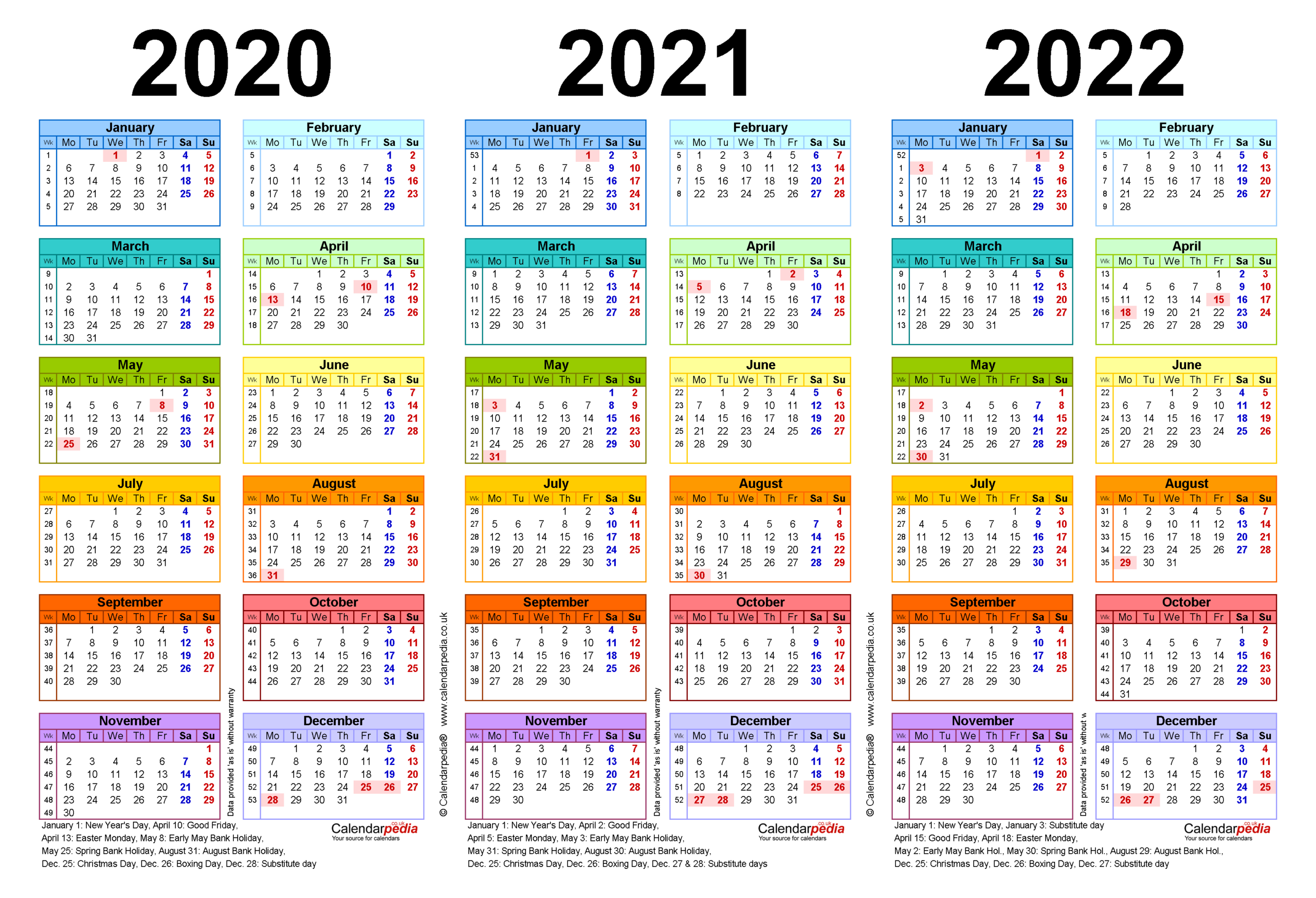 Three Year Calendars For 2020, 2021 & 2022 (Uk) For Word in 2021-2022 Three Year Planner: 3 Year