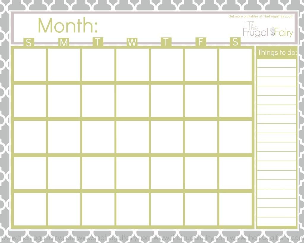 Unique Printable Fill In Calendar | Free Printable Calendar throughout Fill In Calendar Printable