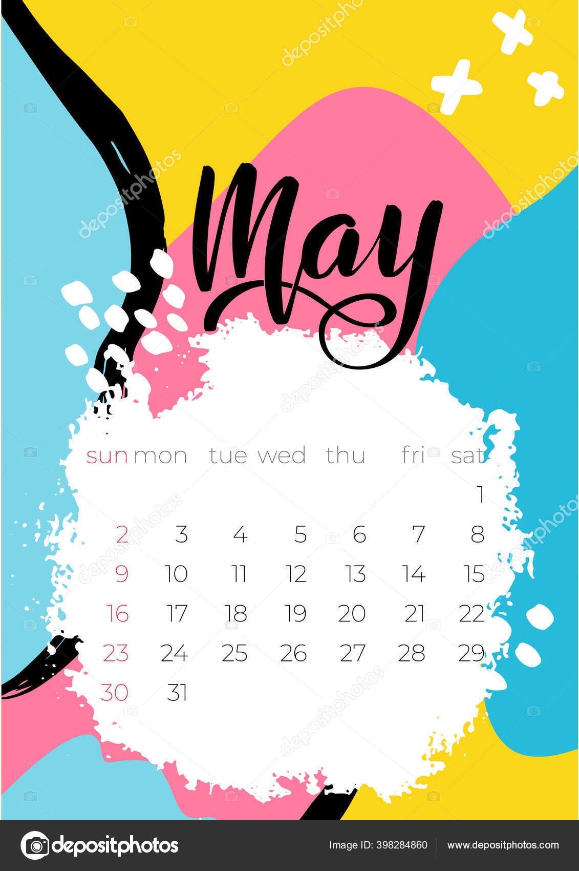 Vector Illustration May Calendar 2021 For Concept Design 398284860 pertaining to Depo Chart 2021