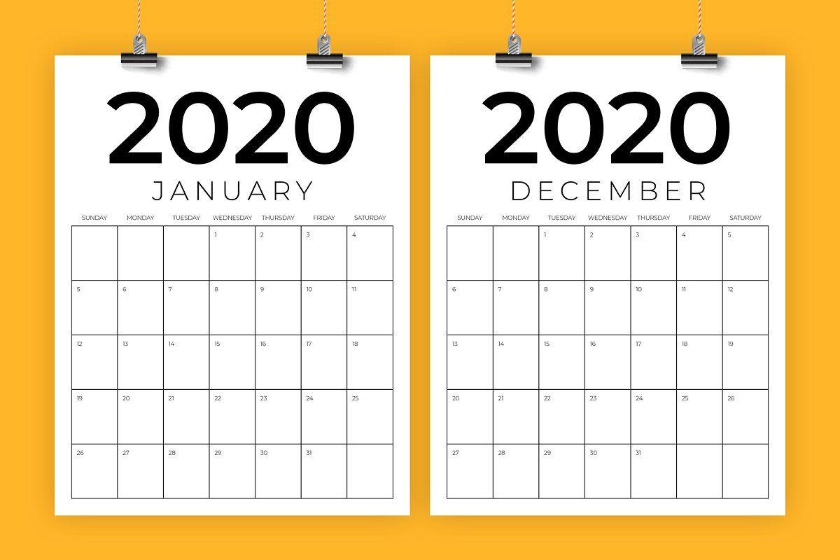 Vertical 8.5 X 11 Inch 2020 Calendar   Calendar Template inside 8.5 X 11 Printable Calendars