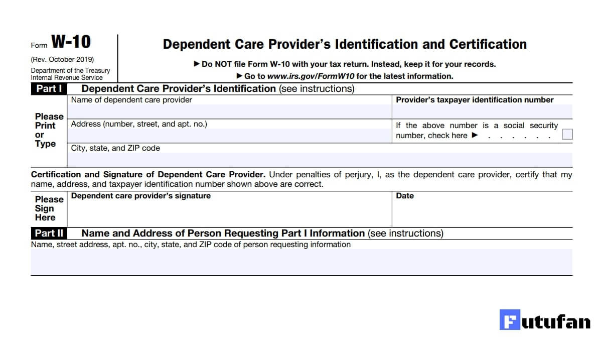 W-10 Form - Irs Forms throughout Free Irs W-9 Form 2021 Printable