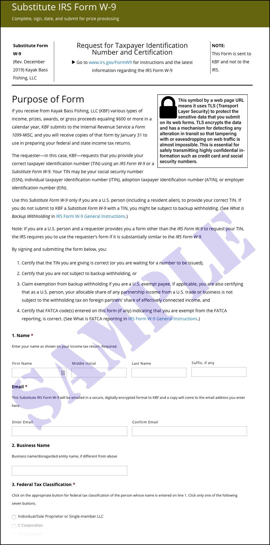 W-9 | Kayak Bass Fishing regarding Printable 2021 W 9 Form