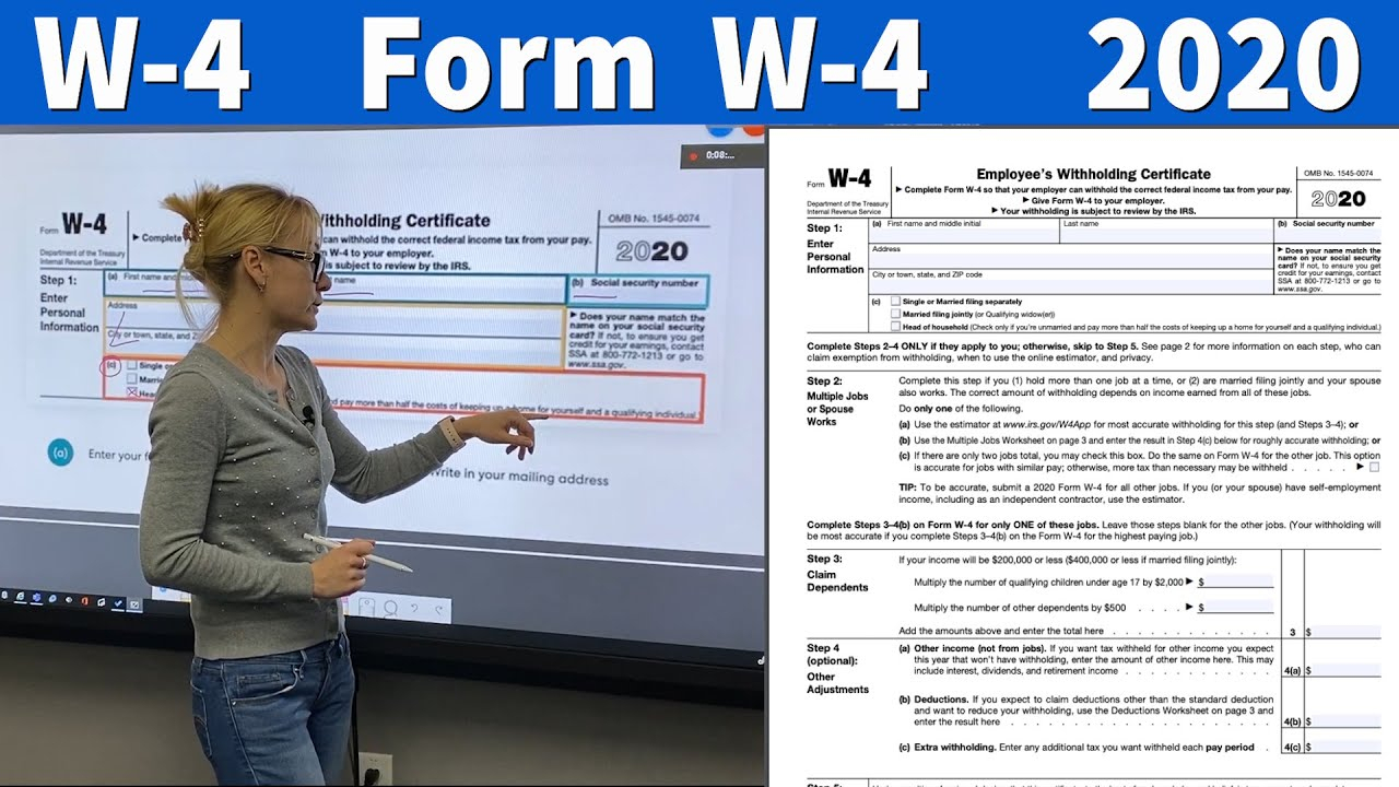 W4 Form 2020 - 2021 Fillable Printable Blank Tax Withholding throughout W4 Form 2021