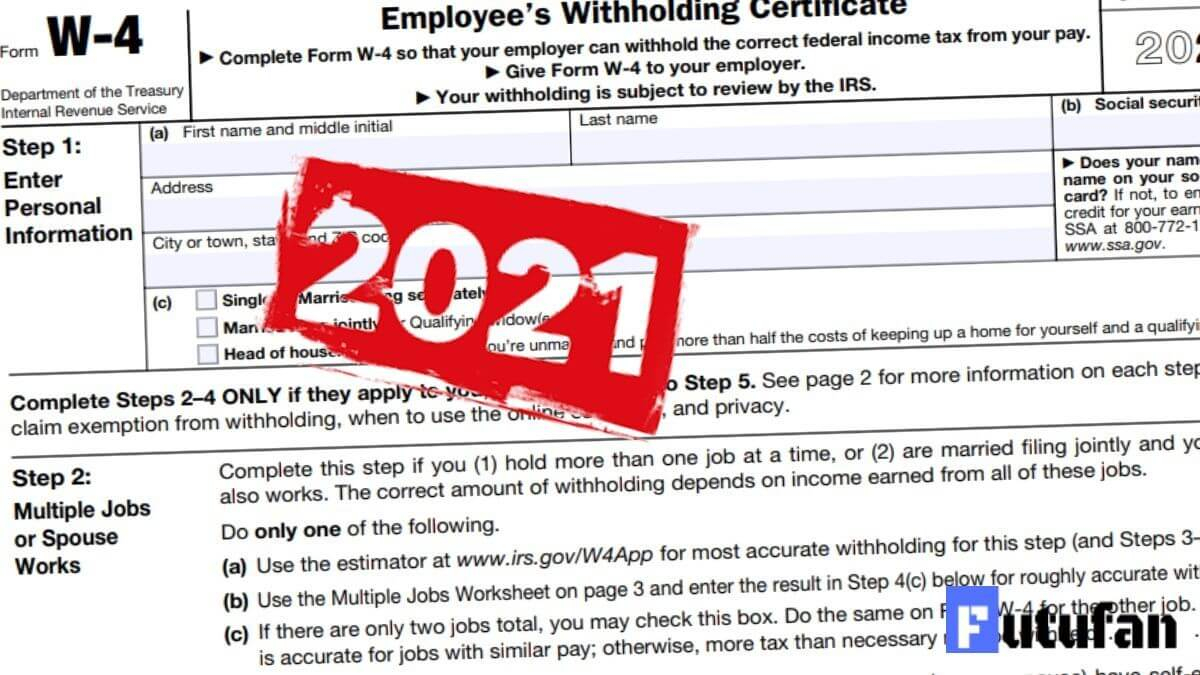 W4 Form 2021 - W-4 Forms intended for 2021 W-4 Form Printable