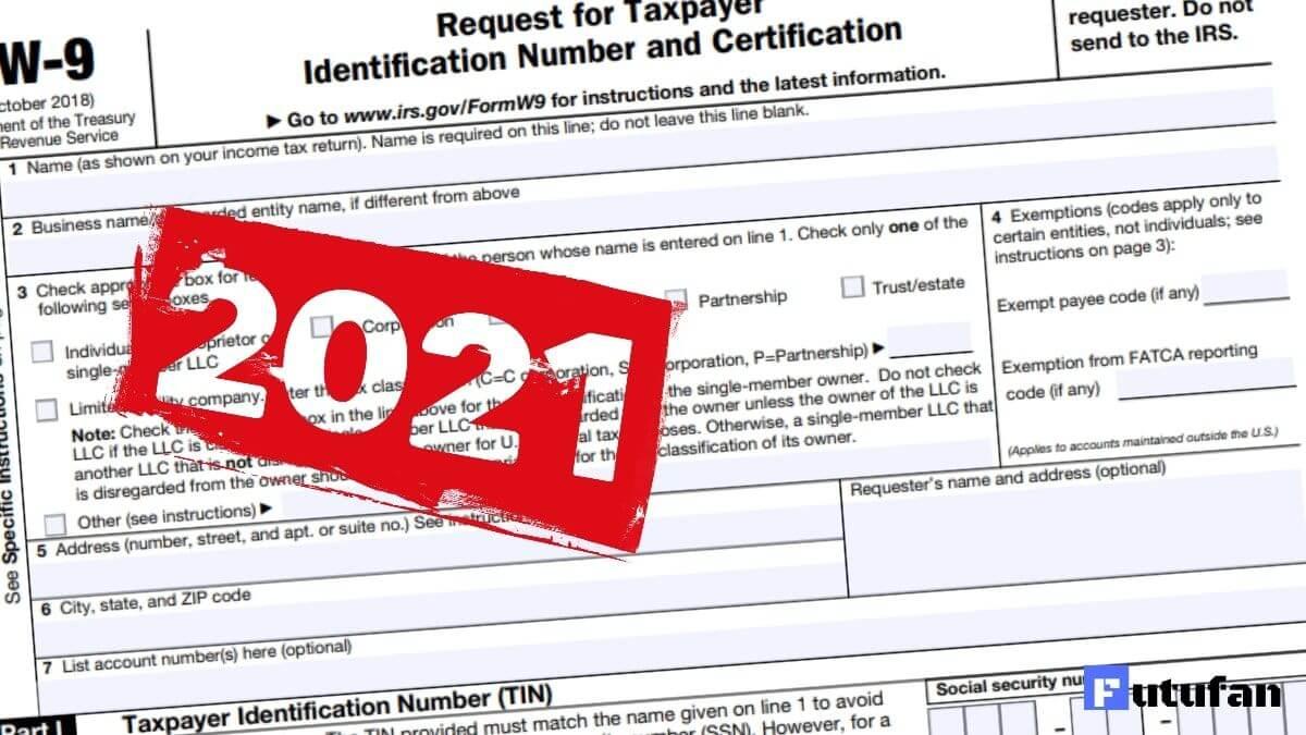 W9 Form 2021 - W-9 Forms inside Irs W9 Form 2021