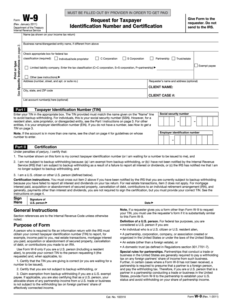 W9 Template - Fill Out And Sign Printable Pdf Template | Signnow within Blank W-9 Form